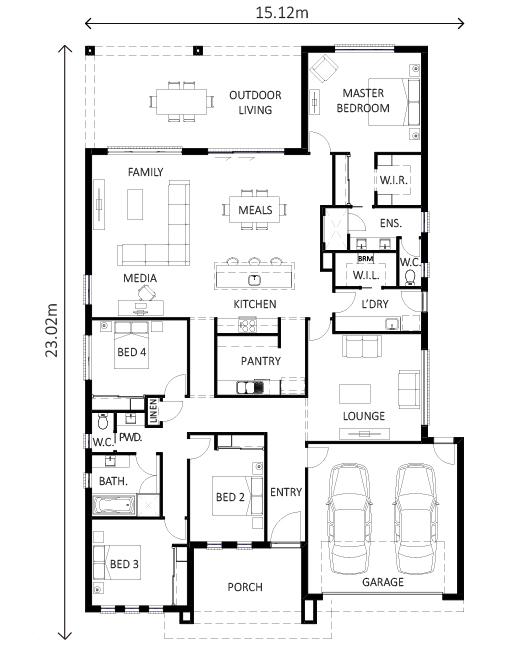 Avoca – Lewis Homes Floor Plans