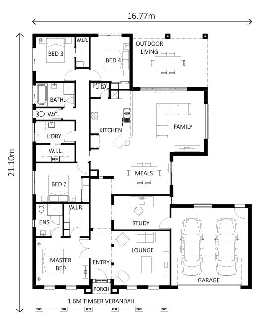 Hunter – Lewis Homes Floor Plans