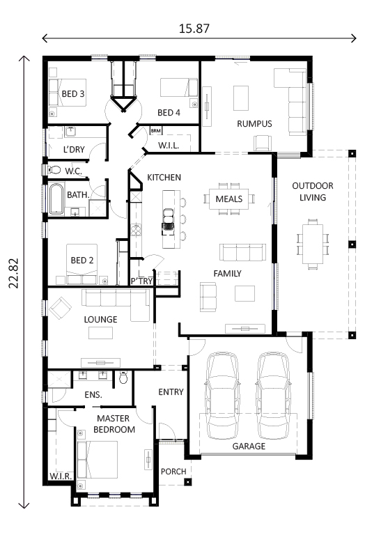 Monaro 25A Floor Plan